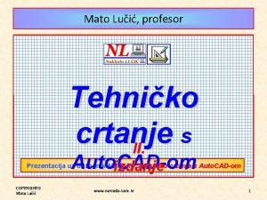 Mato Lui profesor Tehniko crtanje s II Auto