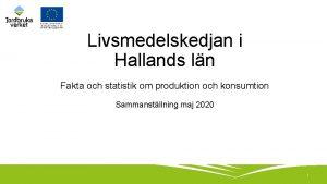 Livsmedelskedjan i Hallands ln Fakta och statistik om