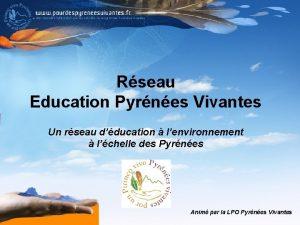 Rseau Education Pyrnes Vivantes Un rseau dducation lenvironnement