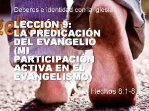 Deberes e identidad con la iglesia LECCIN 9