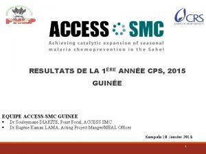 RESULTATS DE LA 1RE ANNE CPS 2015 GUINE