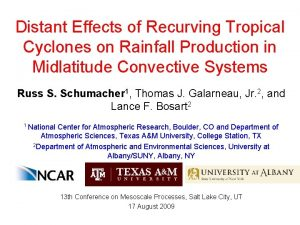 Distant Effects of Recurving Tropical Cyclones on Rainfall