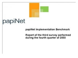 papi Net Implementation Benchmark Report of the third