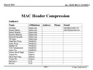 March 2012 doc IEEE 802 11 120365 r