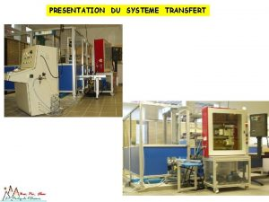 PRESENTATION DU SYSTEME TRANSFERT PRESENTATION DU SYSTEME TRANSFERT