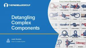 Detangling Complex Components Justin Stockton Senior Accessibility Engineer
