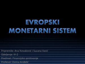 Pripremile Ana Novakovi i Suzana Vasi Odeljenje III2