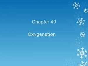 Chapter 40 Oxygenation Factors Affecting Oxygenation Physiological factors