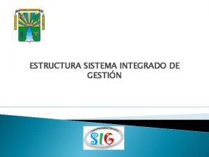 ESTRUCTURA SISTEMA INTEGRADO DE GESTIN ESTRUCTURA ORGANICA SIG