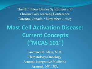 The ILC Ehlers Danlos Syndromes and Chronic Pain