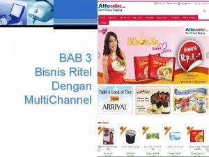 BAB 3 Bisnis Ritel Dengan Multi Channel Multi