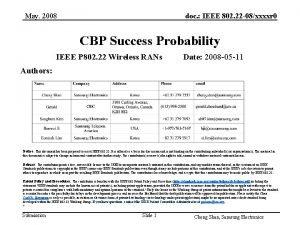May 2008 doc IEEE 802 22 08xxxxr 0
