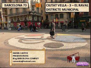 BARCELONA 73 MANEL CANTOS PRESENTATIONS Blog BARCELONA COMPLET