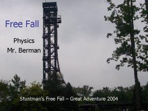 Free Fall Physics Mr Berman Stuntmans Free Fall