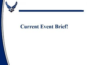 Current Event Brief Airpower End of WWI Through
