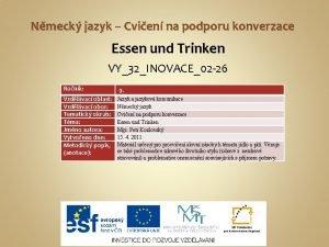 Nmeck jazyk Cvien na podporu konverzace Essen und