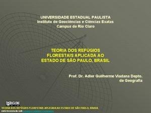 UNIVERSIDADE ESTADUAL PAULISTA Instituto de Geocincias e Cincias