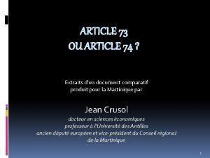 ARTICLE 73 OU ARTICLE 74 Extraits dun document