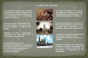 CARTA DE ATENAS La conferencia internacional de Atenas