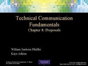 Technical Communication Fundamentals Chapter 8 Proposals William Sanborn