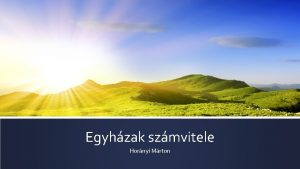 Egyhzak szmvitele Hornyi Mrton Trvnyi httr 2962013 Korm