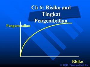 Pengembalian Ch 6 Risiko and Tingkat Pengembalian Risiko