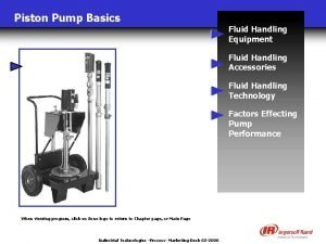 Piston Pump Basics Fluid Handling Equipment Fluid Handling