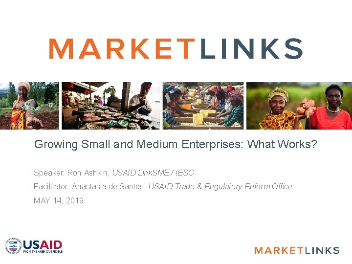 Growing Small and Medium Enterprises What Works Speaker