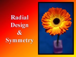 Radial Design Symmetry n Symmetry is where one