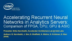 Accelerating Recurrent Neural Networks in Analytics Servers Comparison