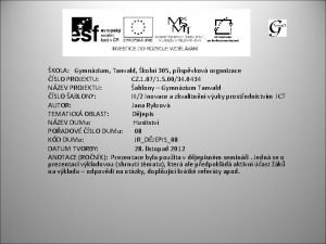 KOLA Gymnzium Tanvald koln 305 pspvkov organizace SLO