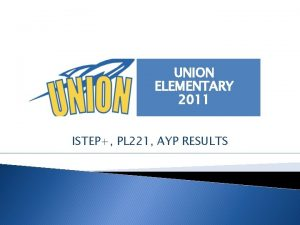 UNION ELEMENTARY 2011 ISTEP PL 221 AYP RESULTS