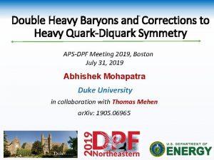 Double Heavy Baryons and Corrections to Heavy QuarkDiquark