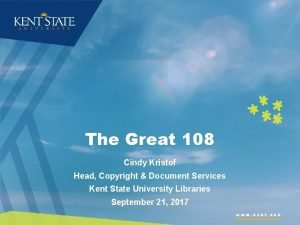 The Great 108 Cindy Kristof Head Copyright Document