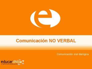 Comunicacin NO VERBAL Comunicacin oral dialgica ndice El
