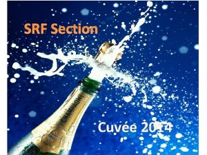 SRF Section Cuve 2014 SRF section LHC SRF