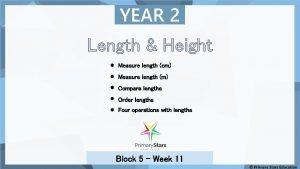 YEAR 2 Length Height Measure length cm Measure