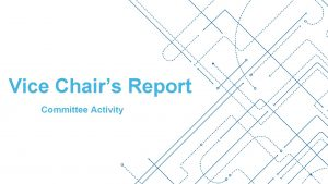 Vice Chairs Report Committee Activity Inclusion and Diversity