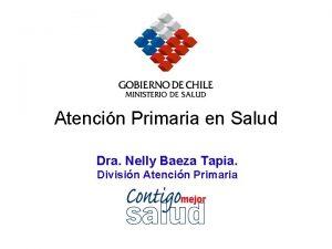 Atencin Primaria en Salud Dra Nelly Baeza Tapia