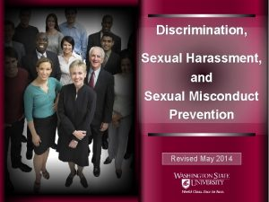 Discrimination Sexual Harassment and Sexual Misconduct Prevention Revised