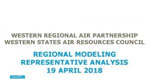 WESTERN REGIONAL AIR PARTNERSHIP WESTERN STATES AIR RESOURCES