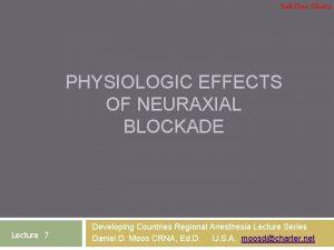 Soli Deo Gloria PHYSIOLOGIC EFFECTS OF NEURAXIAL BLOCKADE