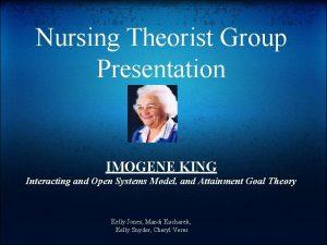 Nursing Theorist Group Presentation IMOGENE KING Interacting and