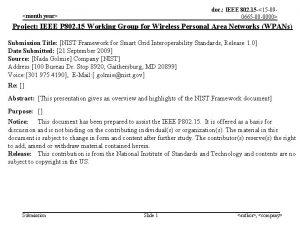 doc IEEE 802 15 15 090665 00 0000