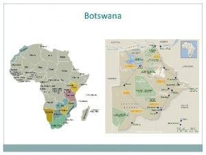 Botswana Thabo Seleke University of Botswana Has Donor