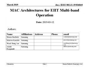 March 2019 doc IEEE 802 11 190360 r