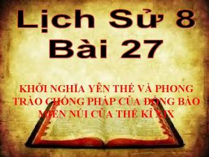 KHI NGHA YN TH V PHONG TRO CHNG