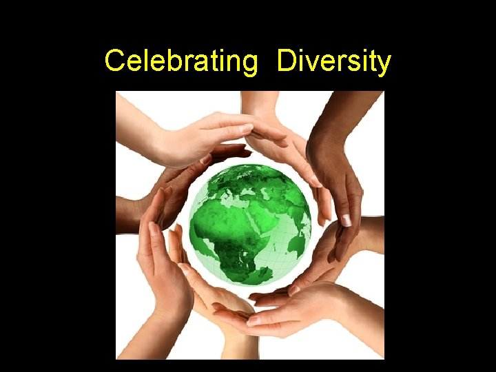 Celebrating Diversity What is diversity We Are All