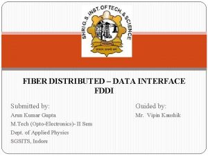 FIBER DISTRIBUTED DATA INTERFACE FDDI Submitted by Guided
