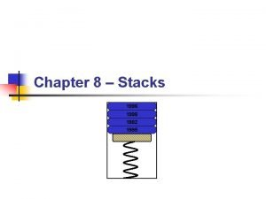 Chapter 8 Stacks 1996 1998 1982 1995 Topics